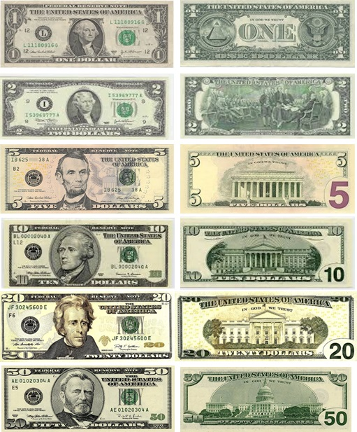 The 1 Dollar Bill Is Ilrated With George Washington On Its Obverse Side And Great Seal Of United States Reserve